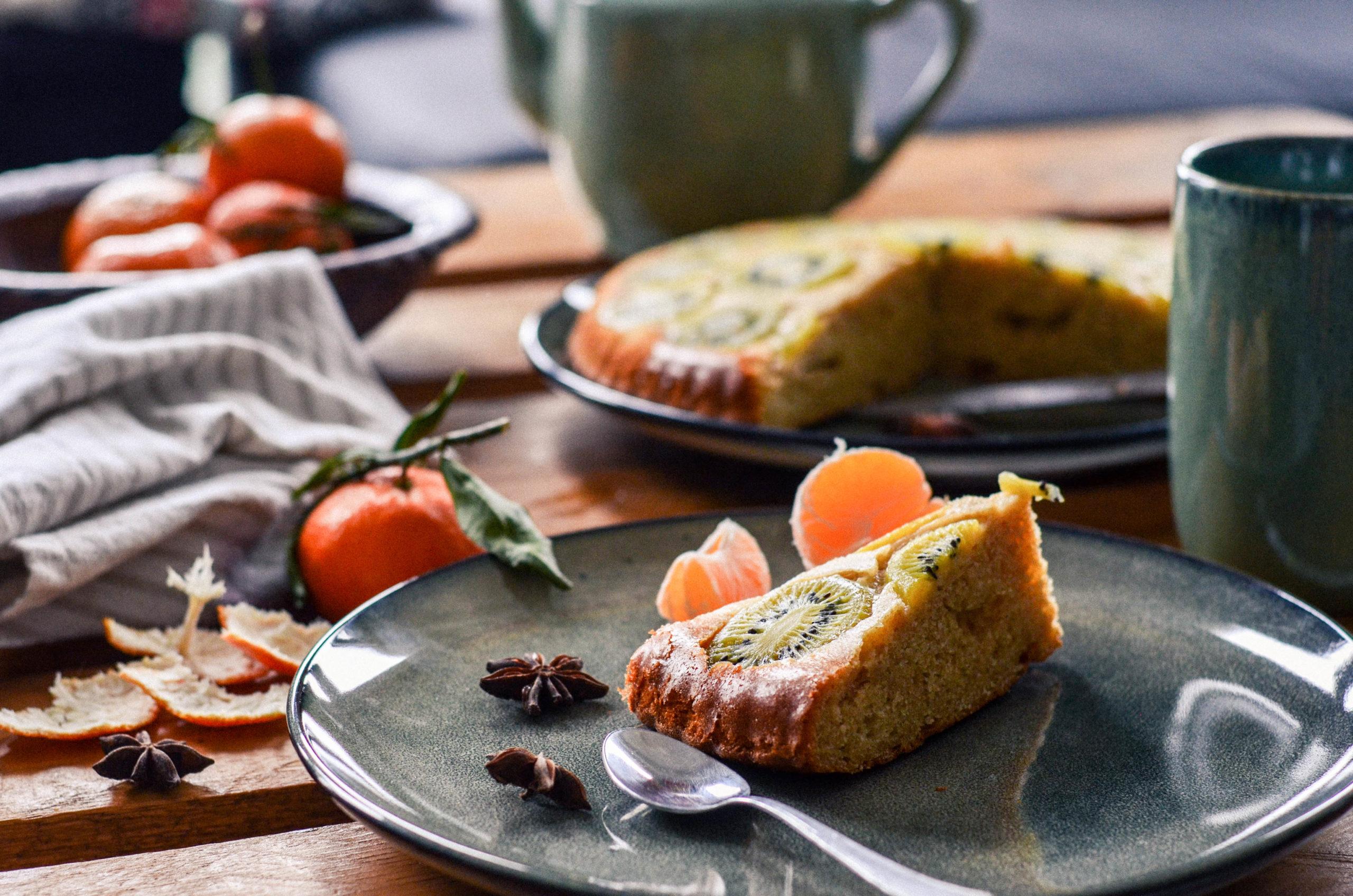 Gâteau renversé au kiwi
